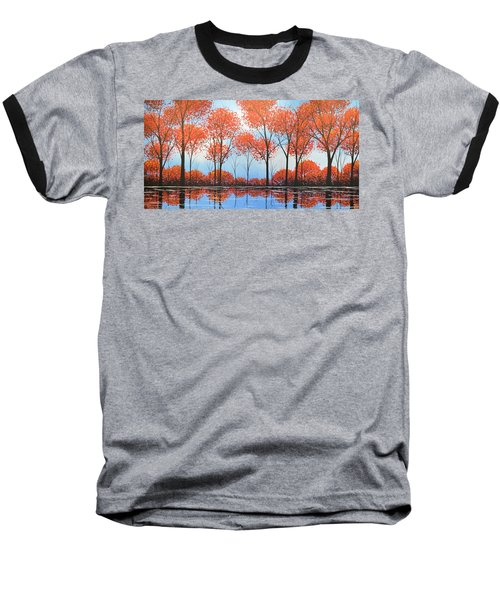 Baseball T-Shirt featuring the painting By The Shore by Amy Giacomelli