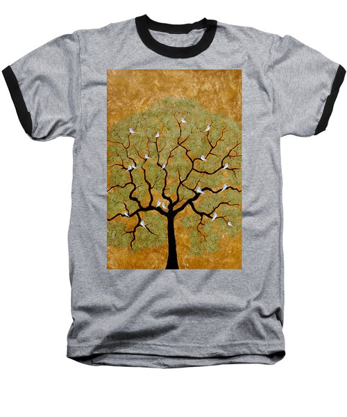 By The Tree Re-painted Baseball T-Shirt
