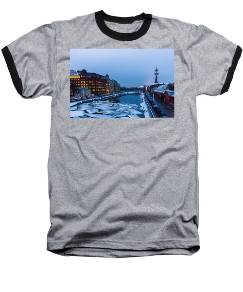 Bypass Canal Of Moscow River - Featured 3 Baseball T-Shirt