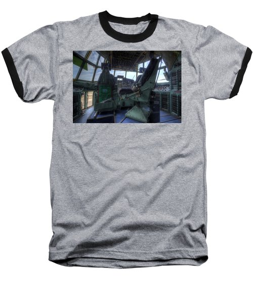 C-130 Cockpit Baseball T-Shirt