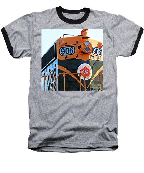 C N R Train 906 Baseball T-Shirt by Barbara Griffin