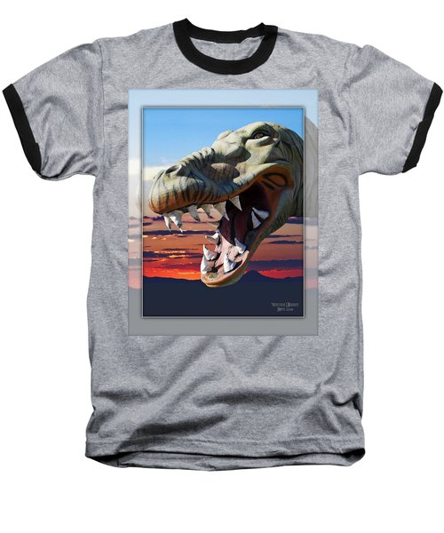 Cabazon Dinosaur Baseball T-Shirt