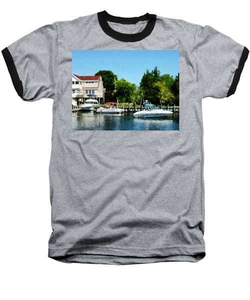 Baseball T-Shirt featuring the photograph Cabin Cruisers by Susan Savad