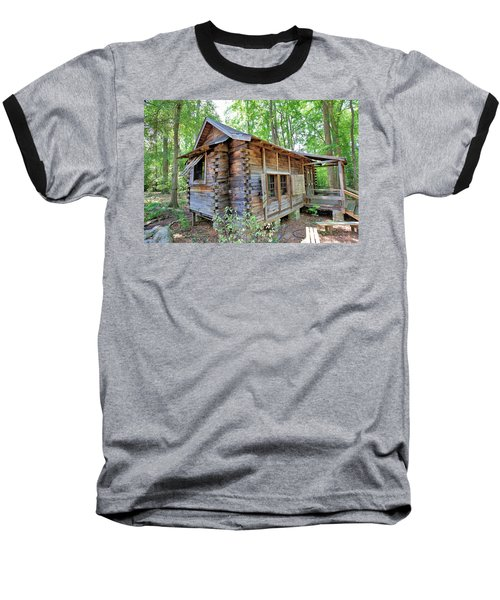 Baseball T-Shirt featuring the photograph Cabin In The Woods by Gordon Elwell