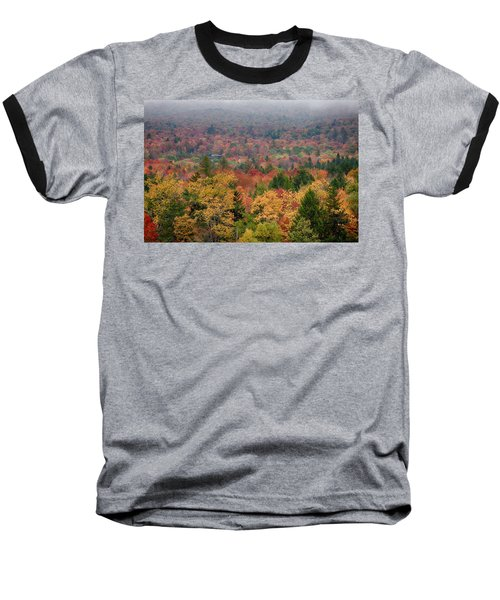Cabin In Vermont Fall Colors Baseball T-Shirt