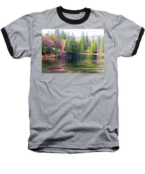 Cabin On The Lake Baseball T-Shirt
