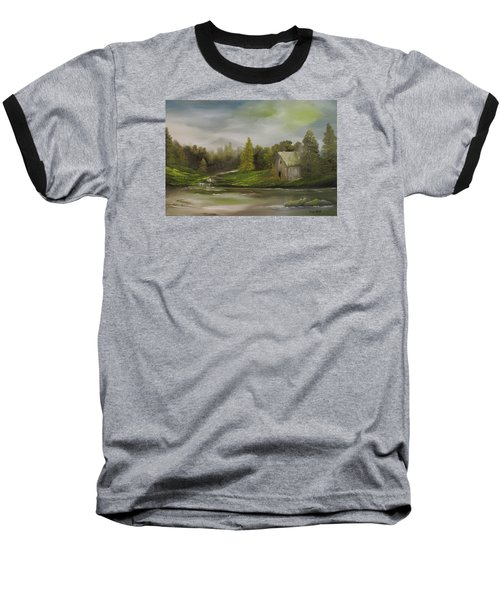 Cabin Retreat Baseball T-Shirt