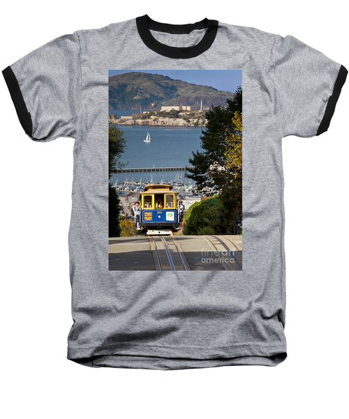 Cable Car In San Francisco Baseball T-Shirt