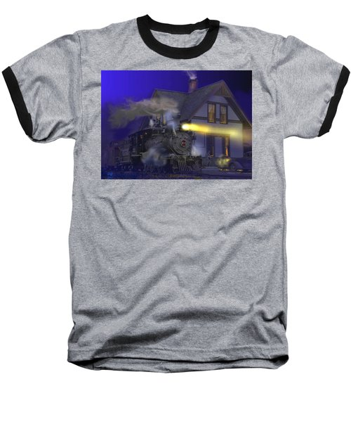 Caboose Hop At Dolores Colorado Baseball T-Shirt by J Griff Griffin