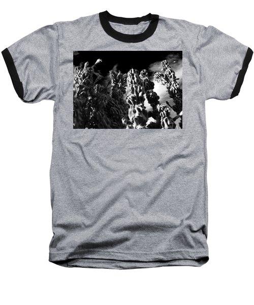 Cactus 1 Bw Baseball T-Shirt