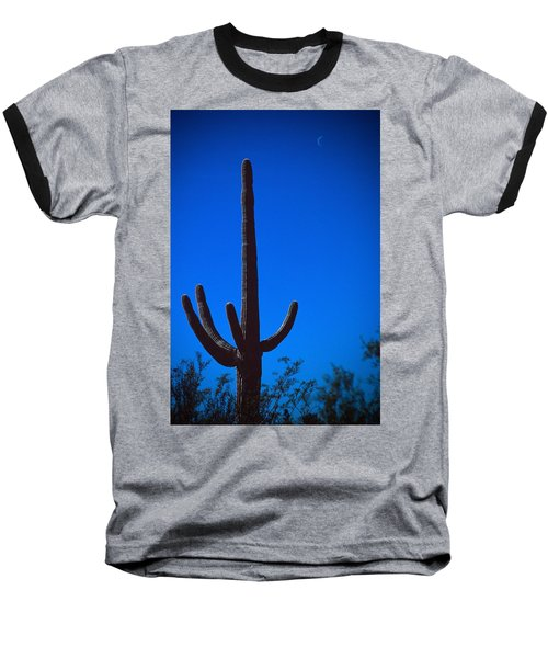 Cactus And Moon Baseball T-Shirt