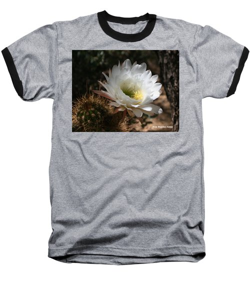 Cactus Flower Full Bloom Baseball T-Shirt