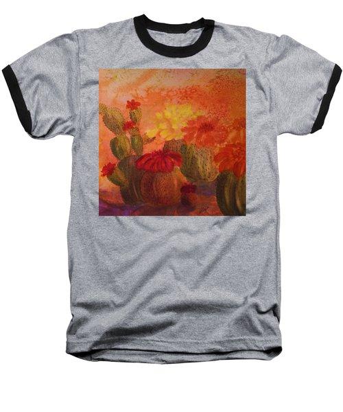 Cactus Garden - Square Format Baseball T-Shirt