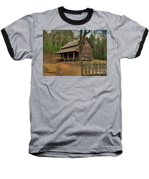 Cades Cove Cabin Baseball T-Shirt