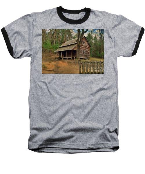 Cades Cove Cabin Baseball T-Shirt