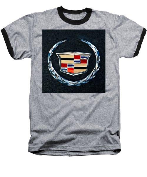Cadillac Emblem Baseball T-Shirt by Jill Reger