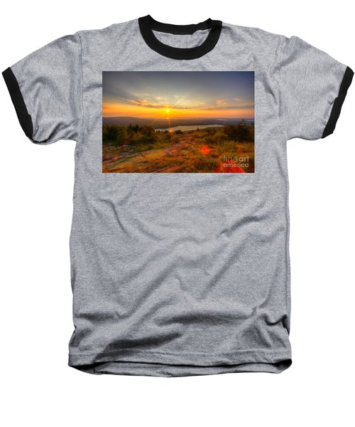 Cadillac Mountain Sunset Acadia National Park Bar Harbor Maine Baseball T-Shirt