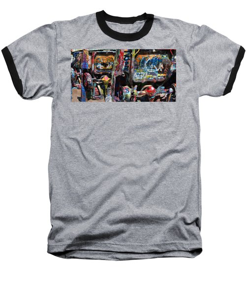 Cadillac Ranch Abstract Baseball T-Shirt