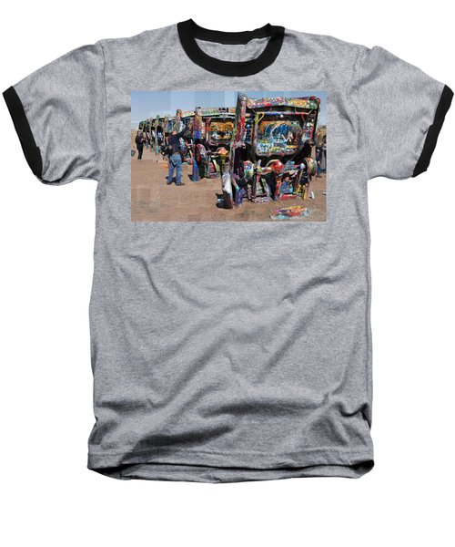 Cadillac Ranch Oblique Baseball T-Shirt