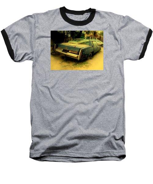Cadillac Wreck Baseball T-Shirt by Salman Ravish