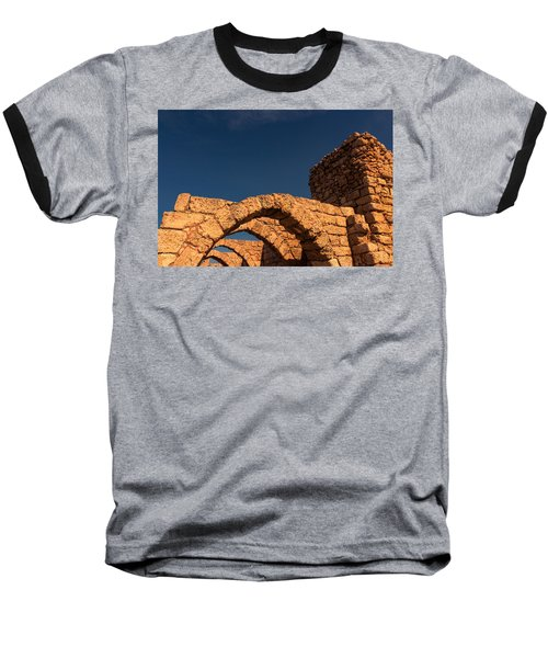 Caesarea Baseball T-Shirt by David Gleeson