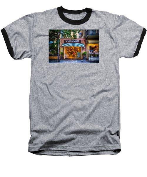Cafe Beignet Morning Nola Baseball T-Shirt by Kathleen K Parker