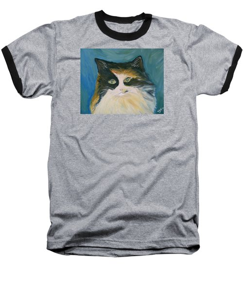 Baseball T-Shirt featuring the painting Cali by Victoria Lakes