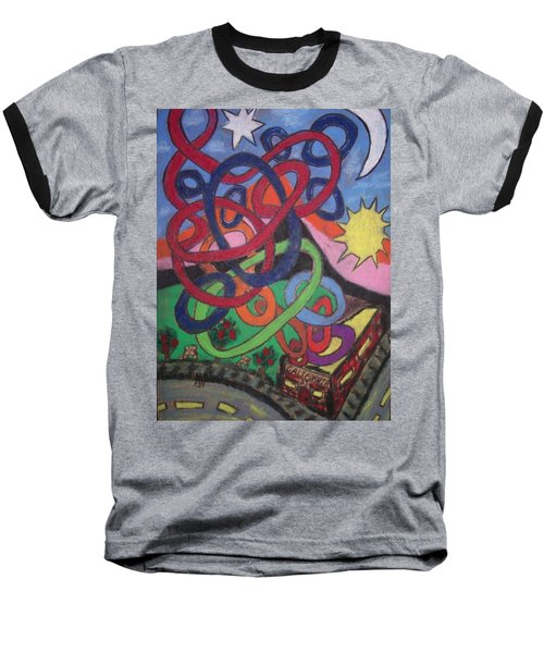 Baseball T-Shirt featuring the drawing California by Jonathon Hansen