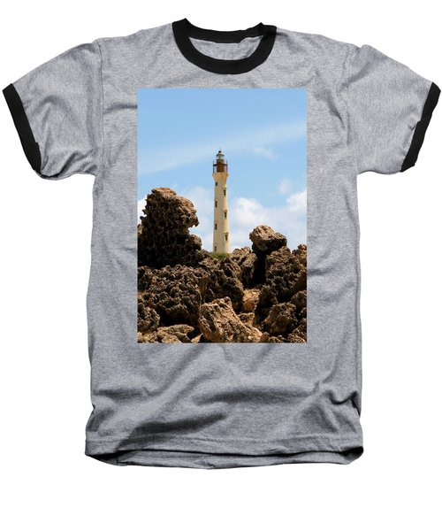 California Lighthouse Aruba Baseball T-Shirt