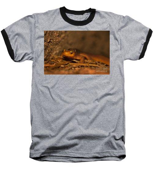California Newt Baseball T-Shirt by Ron Sanford