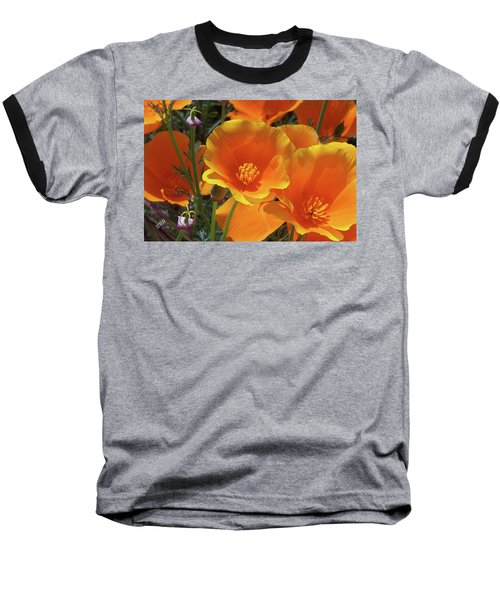 California Poppies Baseball T-Shirt by Ben and Raisa Gertsberg