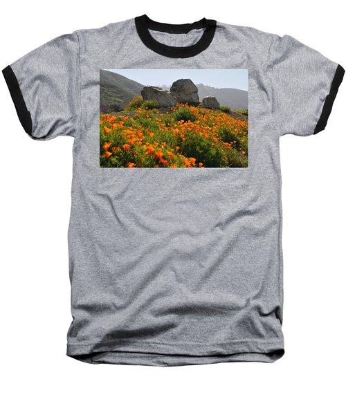 Baseball T-Shirt featuring the photograph California Poppies by Lynn Bauer