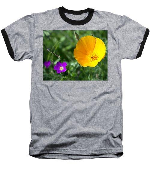 California Poppy Baseball T-Shirt