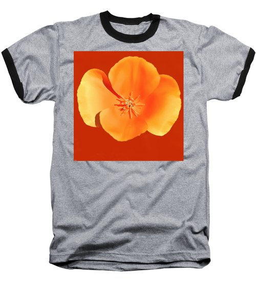 California Poppy Painting Baseball T-Shirt