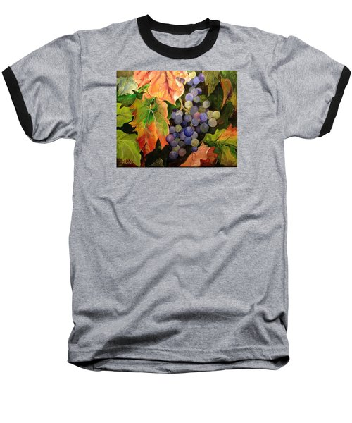 Baseball T-Shirt featuring the painting California Vineyards by Alan Lakin