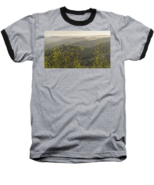 Baseball T-Shirt featuring the photograph California Wildflowers by Steven Sparks