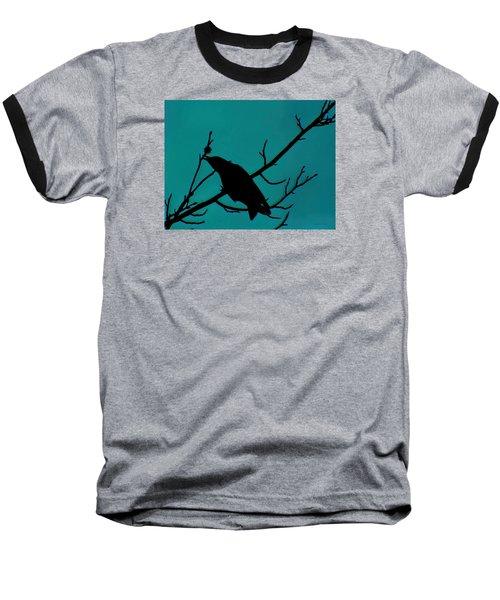Call Of The Crow On Aqua 2 Baseball T-Shirt