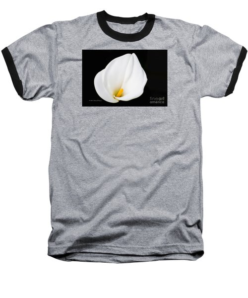 Calla Lily Flower Face Baseball T-Shirt