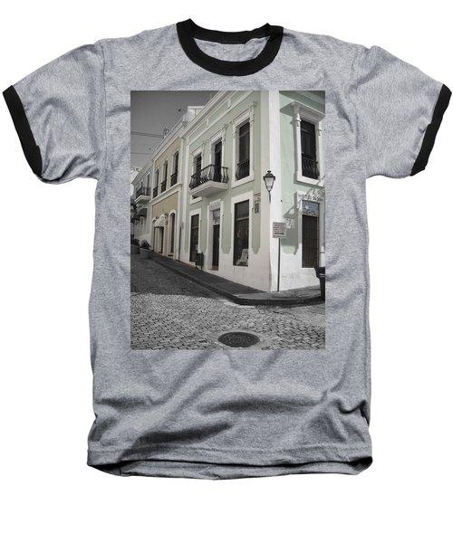 Calle De Luna Y Calle Del Cristo Baseball T-Shirt by Daniel Sheldon