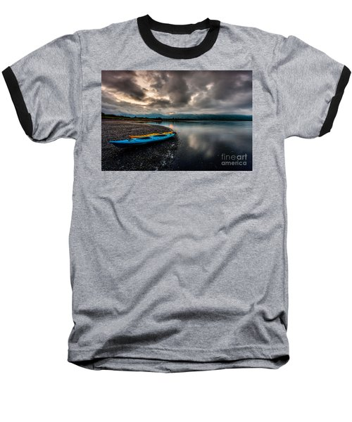 Calm Evening Baseball T-Shirt by Steven Reed