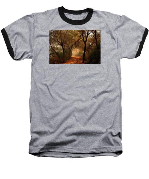 Calm Nature As Fantasy  Baseball T-Shirt by Manjot Singh Sachdeva