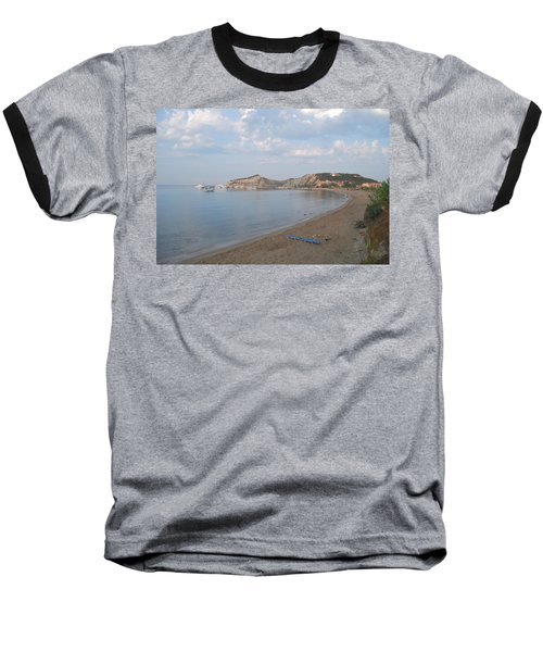 Baseball T-Shirt featuring the photograph Calm Sea by George Katechis