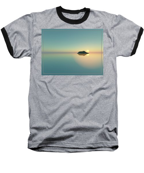 Calm Seas Sunset... Baseball T-Shirt