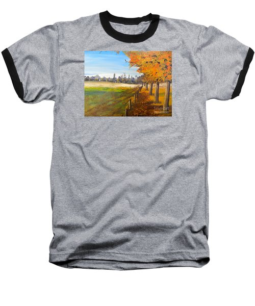 Baseball T-Shirt featuring the painting Camden Farm by Pamela  Meredith