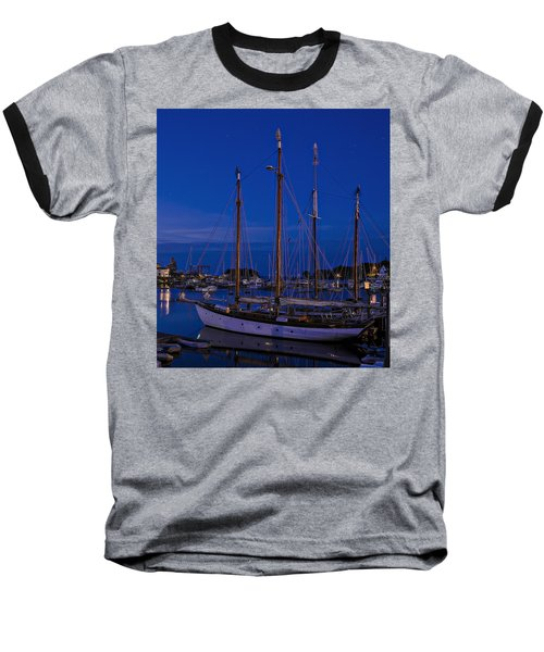 Camden Harbor Maine At 4am Baseball T-Shirt