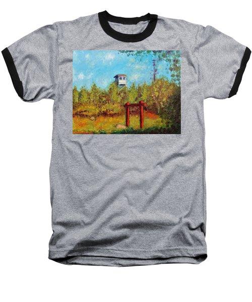 Camel Top Fire Tower Baseball T-Shirt