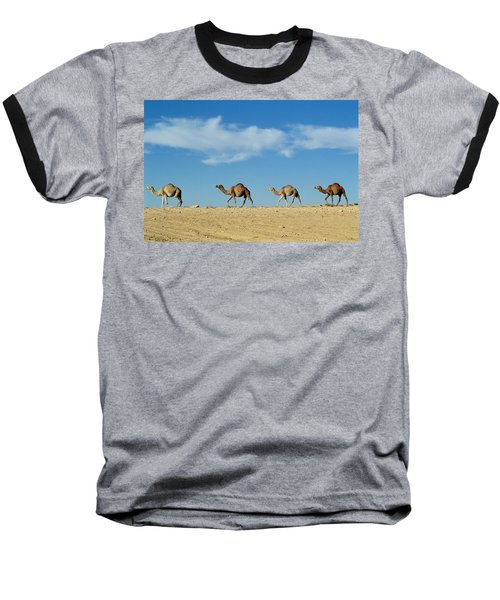 Camel Train Baseball T-Shirt