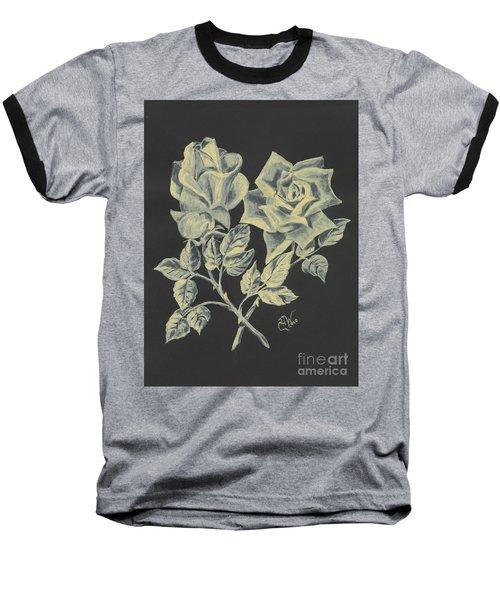 Baseball T-Shirt featuring the painting Cameo Rose by Carol Wisniewski