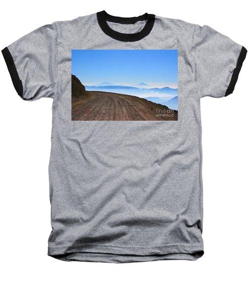 Camino En Volcan Nevado De Toluca Baseball T-Shirt