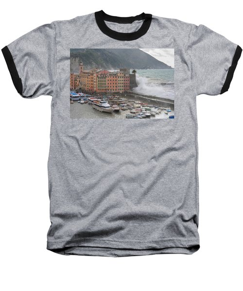 Baseball T-Shirt featuring the photograph Camogli Under A Storm by Antonio Scarpi
